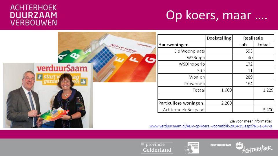 Op koers, maar …. Zie voor meer informatie: www.verduursaam.nl/ADV-op-koers,-vooruitblik-2014-15.aspx?NL-1-647-0 www.verduursaam.nl/ADV-op-koers,-voor