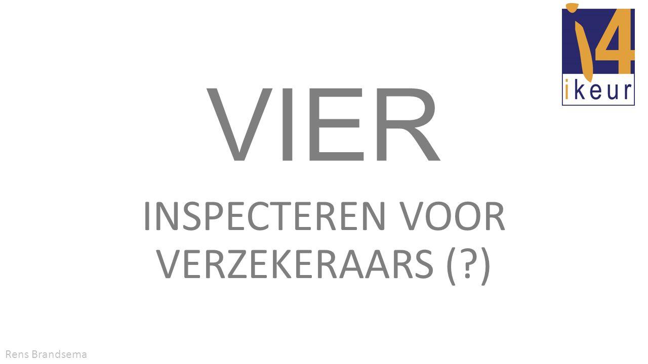 VIER erkenning • VIER erkenningsregeling wordt beheerd door iKeur • VIER erkenning is niet exclusief voor iKeur-leden • VIER inspecteur moet aantoonbaar aan voorwaarden voldoen • Initiële erkenning is drie jaar geldig • Verlenging van de erkenning met steeds drie jaar VIER: inspecteren voor verzekeraarsRens Brandsema