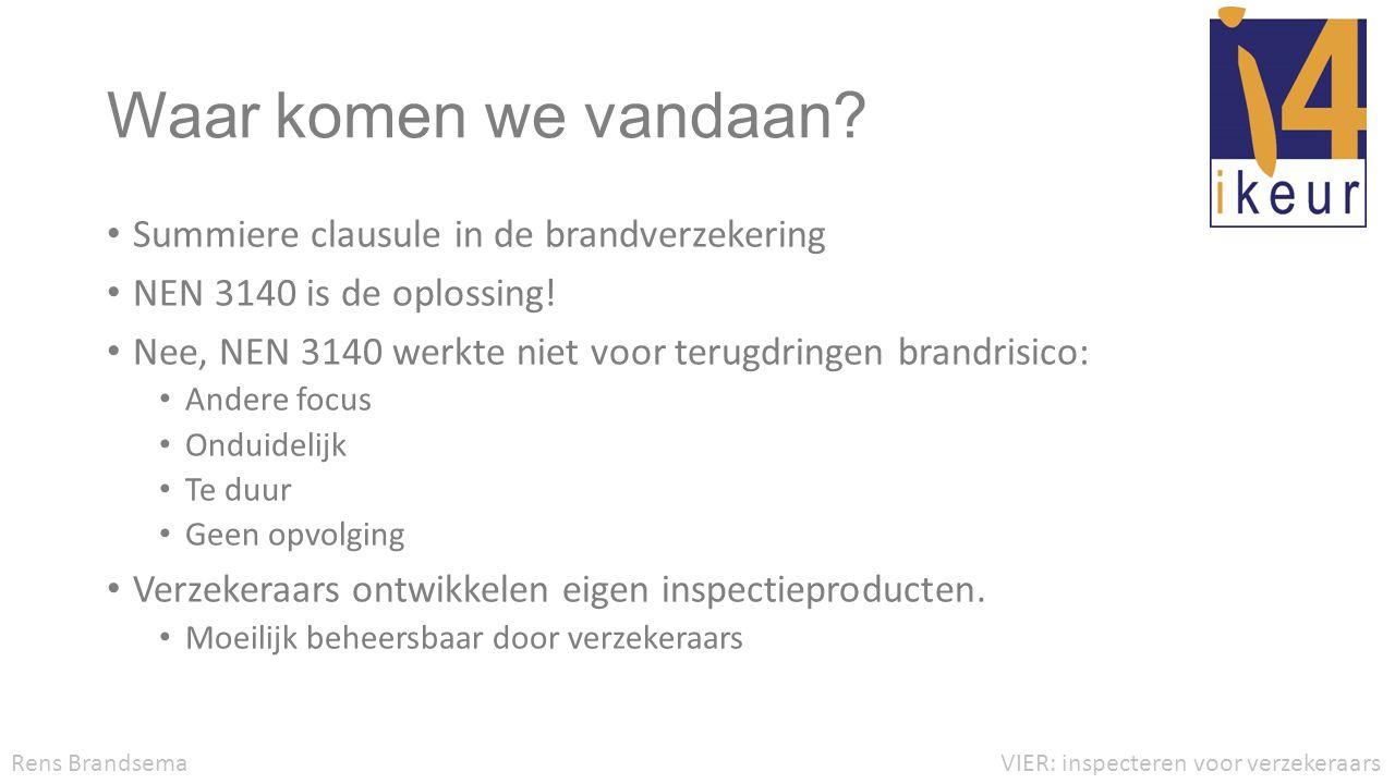 VvV en iKeur • Verschillende inspectieproducten van verzekeraars hebben sterke overeenkomsten.