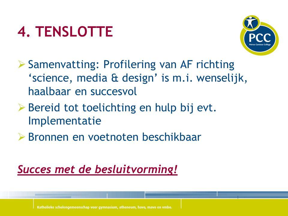 Bronnen & Voetnoten  Project 01 'Mussenflat': PCC Fabritius  Project 03: http://wattnzooi.hvcgroep.nl/docenten en http://www.agentschapnl.nl/programmas-regelingen/websites-over- afval-voor-scholierenhttp://wattnzooi.hvcgroep.nl/docenten http://www.agentschapnl.nl/programmas-regelingen/websites-over- afval-voor-scholieren  Project 04: 'Water' is een bestaand project van PCC Heiloo  Project 05: http://www.nieuwsindeklas.nl/lesmateriaal/?detail=9&title=Prinsjesdag +VO&search=&vak=0&type=0&niveau=9%2C3%2C4&tw=0 http://www.nieuwsindeklas.nl/lesmateriaal/?detail=9&title=Prinsjesdag +VO&search=&vak=0&type=0&niveau=9%2C3%2C4&tw=0  Project 07: http://codenamefuture.nl/living-planet/93-714.aspxhttp://codenamefuture.nl/living-planet/93-714.aspx  Gebruikte programmatuur: hierbij is gebruik gemaakt van de lijst van Liesbeth Breek, aangevuld met eigen vondsten op internet  Kennismakingsprojecten nieuwe media: uit 'Ideeënboek Sociale media in het onderwijs – Erno Mijland (gratis download)