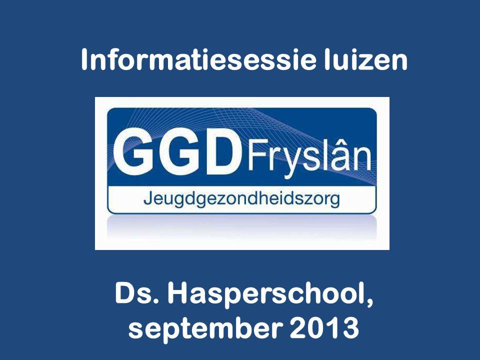 Informatiesessie luizen Ds. Hasperschool, september 2013