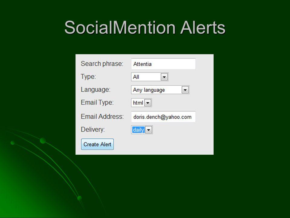 SocialMention Alerts