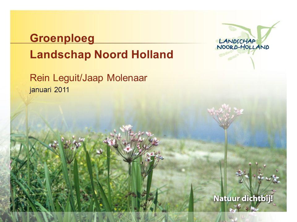 Groenploeg Landschap Noord Holland Rein Leguit/Jaap Molenaar januari 2011