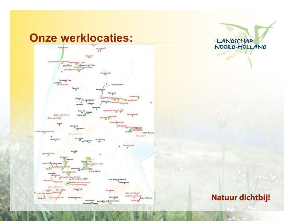 Resultaten: Vele ecologische successen geboekt door volhardend beheer Bijvoorbeeld de vele bermen, dijken met rijke flora met o.a.