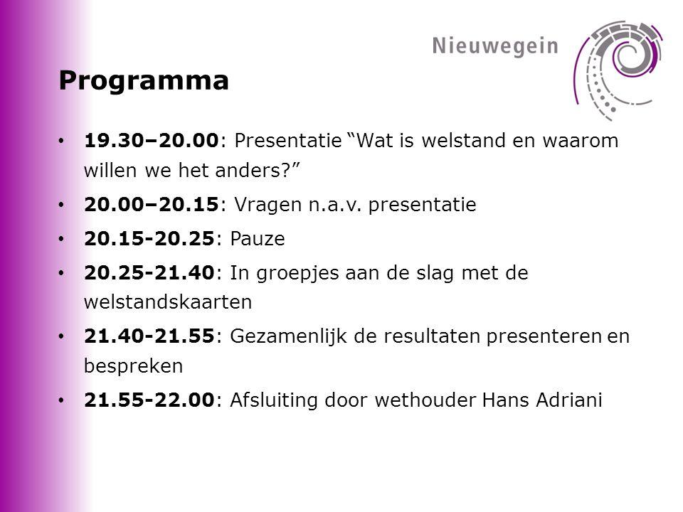 Programma • 19.30–20.00: Presentatie Wat is welstand en waarom willen we het anders? • 20.00–20.15: Vragen n.a.v.