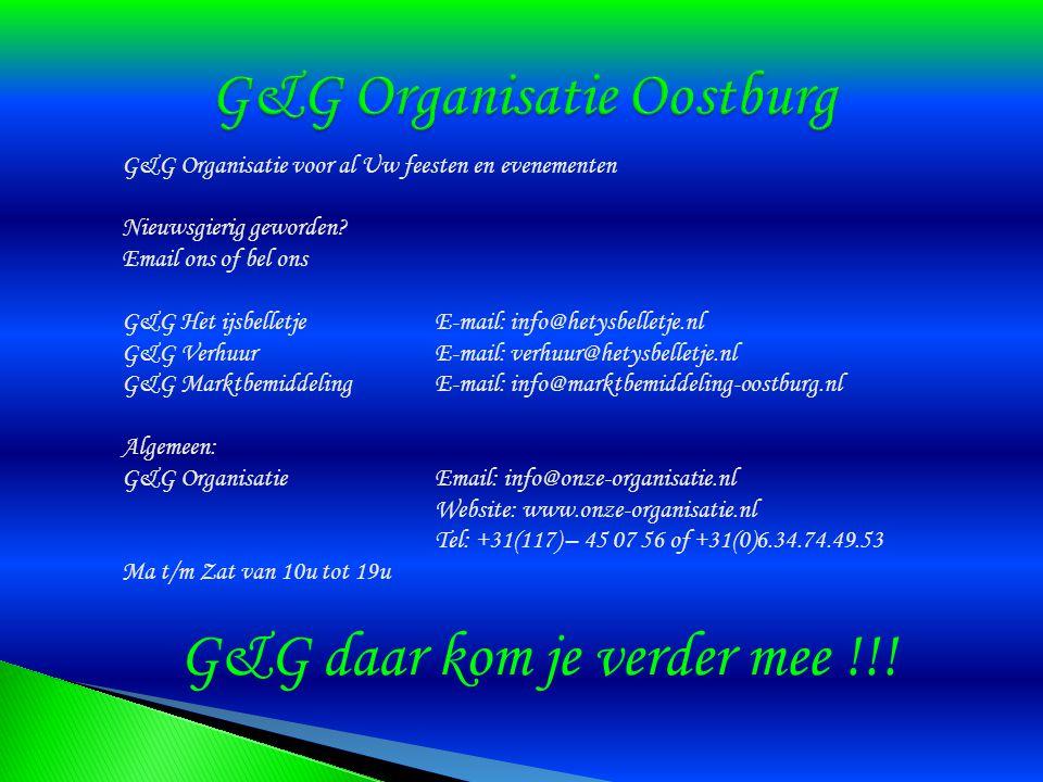 G&G Organisatie voor al Uw feesten en evenementen Nieuwsgierig geworden.