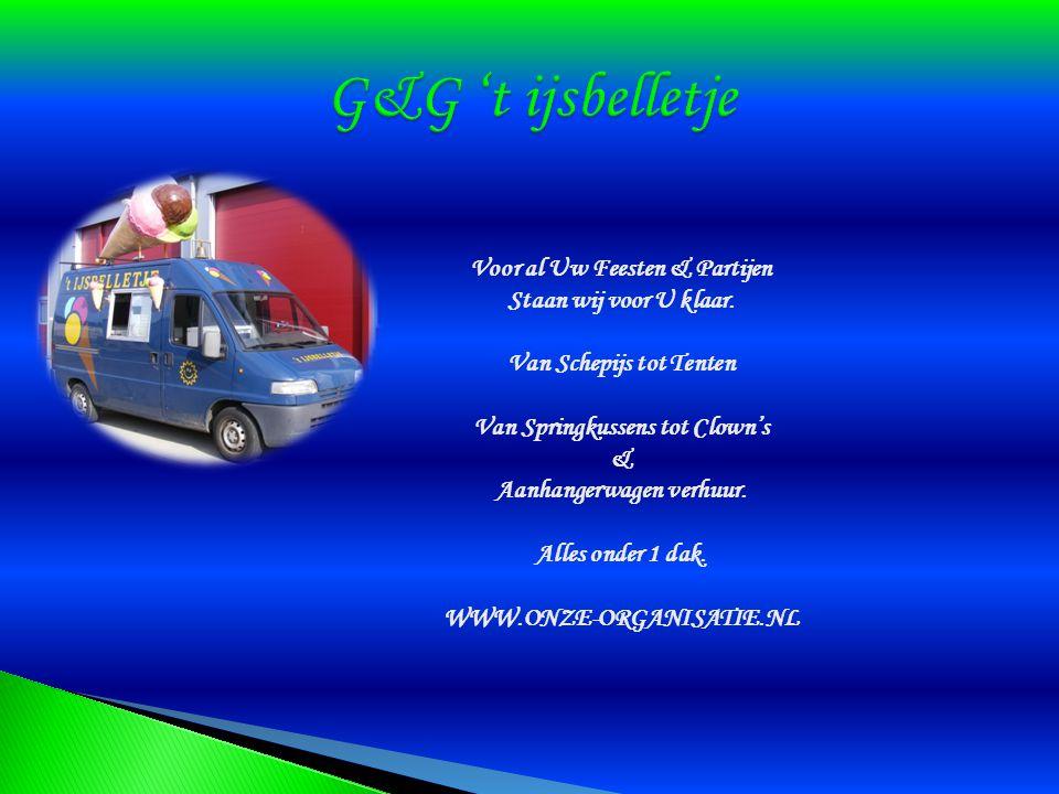 IJswagen: ( Peugot Boxer ) Onze ijswagen kunt U ook huren, voor al Uw feesten en partijen.