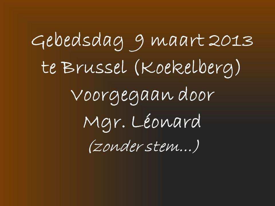Gebedsdag 9 maart 2013 te Brussel (Koekelberg) Voorgegaan door Mgr. Léonard (zonder stem…)