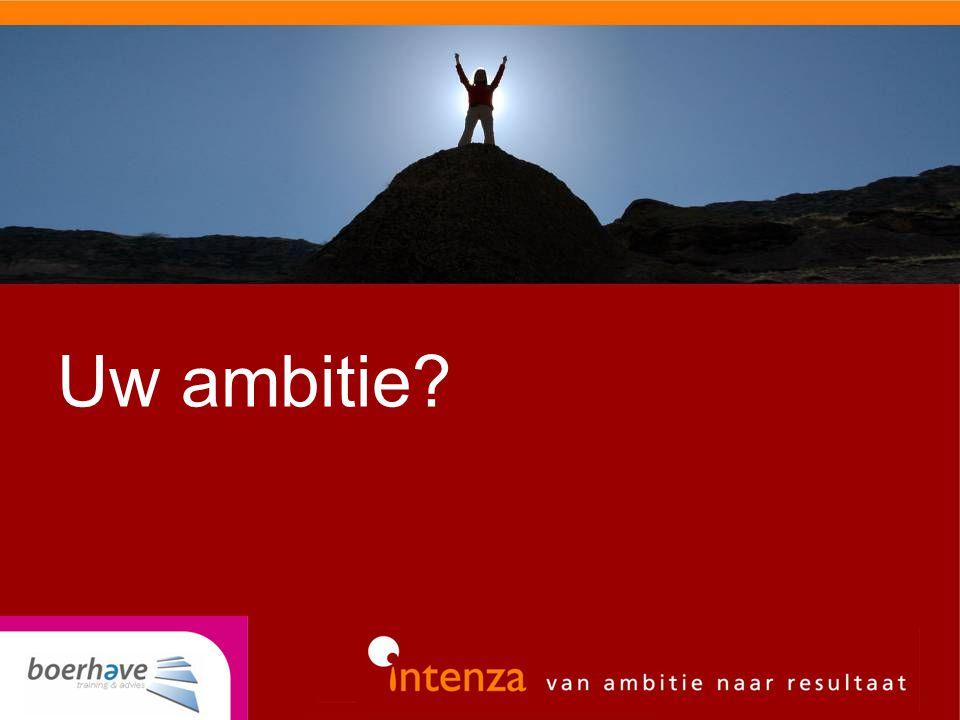 Uw ambitie?