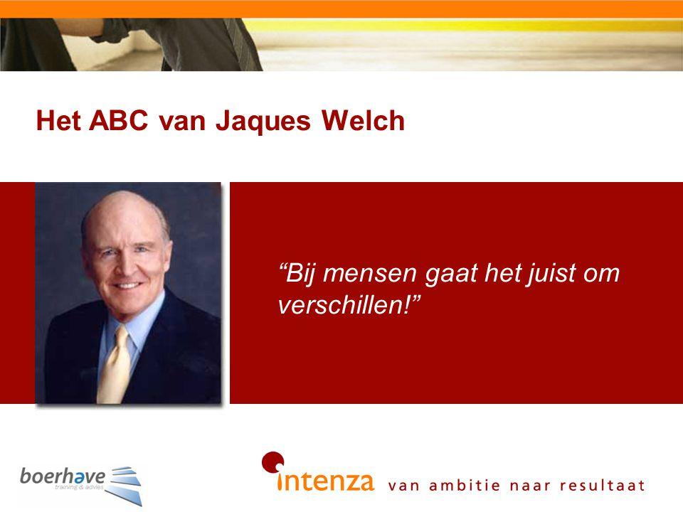 Het ABC van Jaques Welch 54 Bij mensen gaat het juist om verschillen!