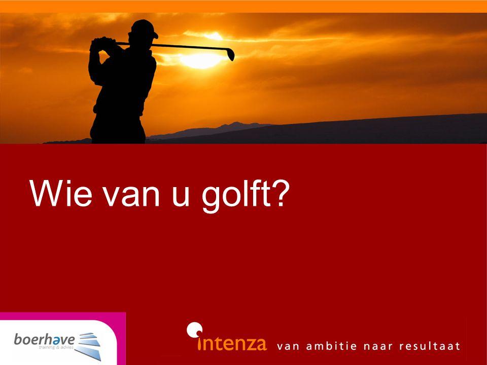 Wie van u golft?