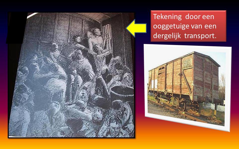 Met een dergelijke treinwagon konden ongeveer 150 man naar Duitsland gevoerd worden.