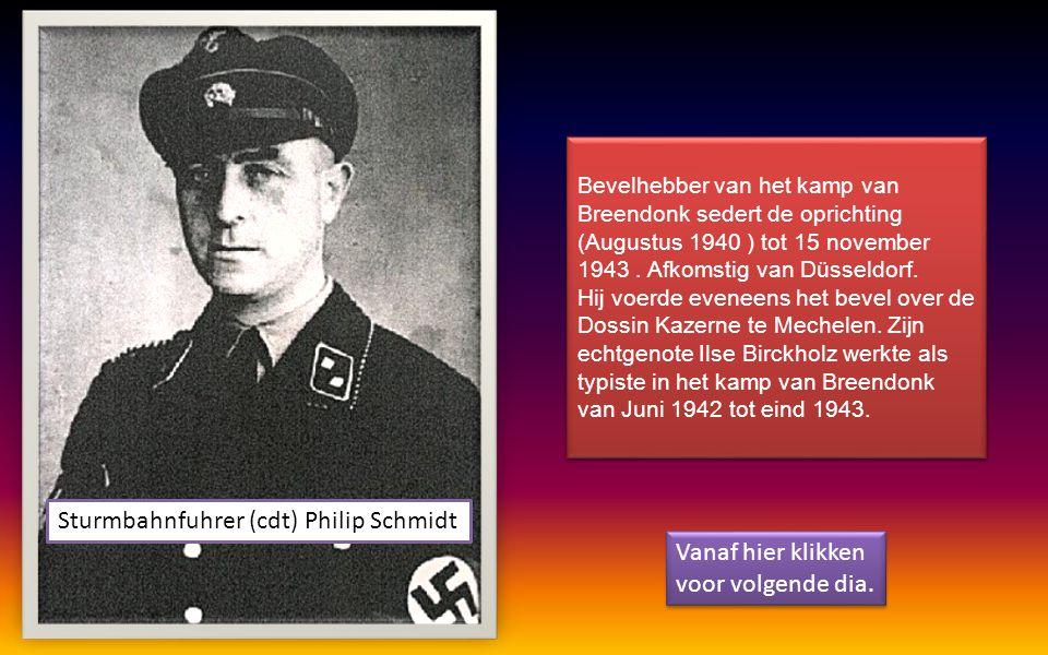 Vlaamse SS man, een der wreedste beulen van het kamp. Werd ter dood veroordeeld en met de buik tegen de paal gefusilleerd als landverrader. Bekende he