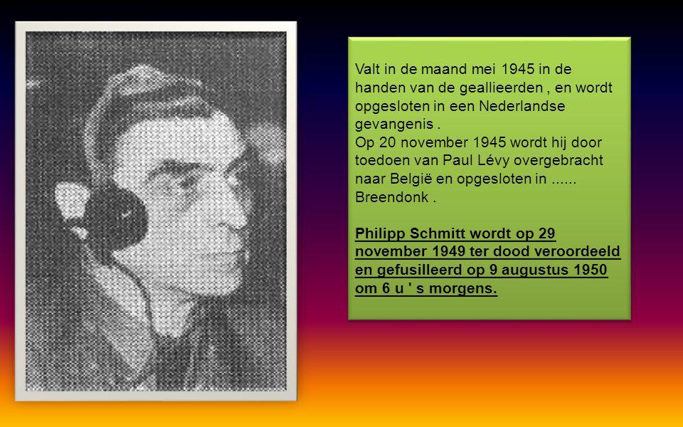 Bevelhebber van het kamp van Breendonk sedert de oprichting (Augustus 1940 ) tot 15 november 1943. Afkomstig van Düsseldorf. Hij voerde eveneens het b
