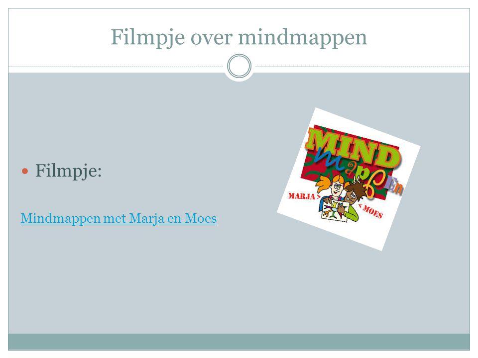 Filmpje over mindmappen  Filmpje: Mindmappen met Marja en Moes