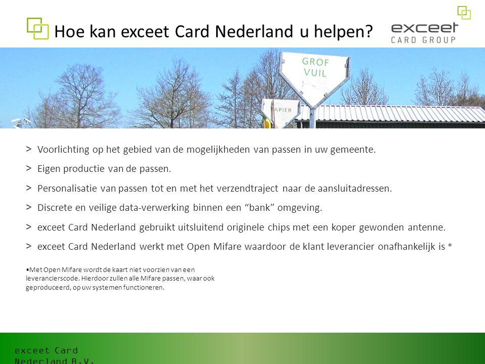 exceet Card Nederland B.V.Hoe kan exceet Card Nederland u helpen.