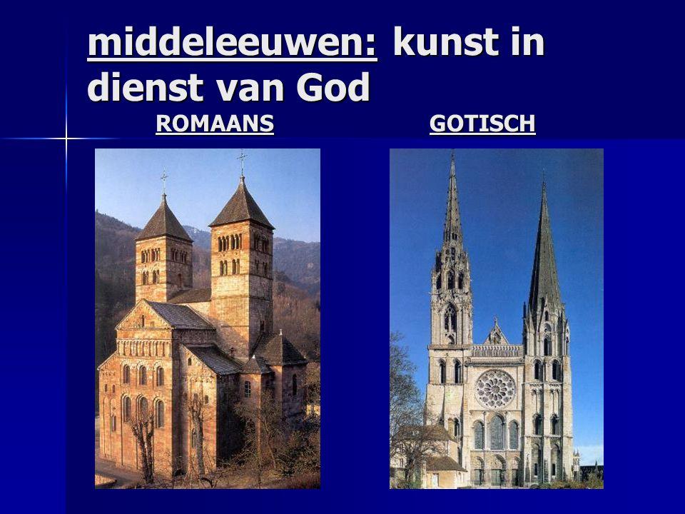 middeleeuwen: kunst in dienst van God ROMAANSGOTISCH