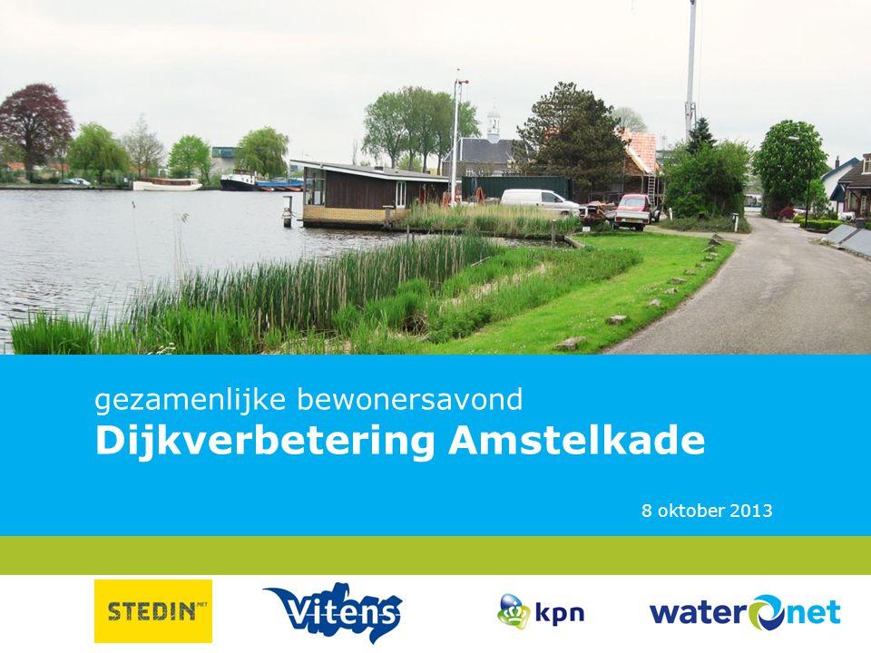 gezamenlijke bewonersavond Dijkverbetering Amstelkade 8 oktober 2013