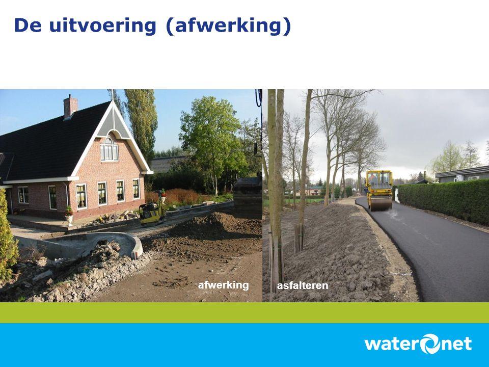 De uitvoering (afwerking) asfalteren afwerking