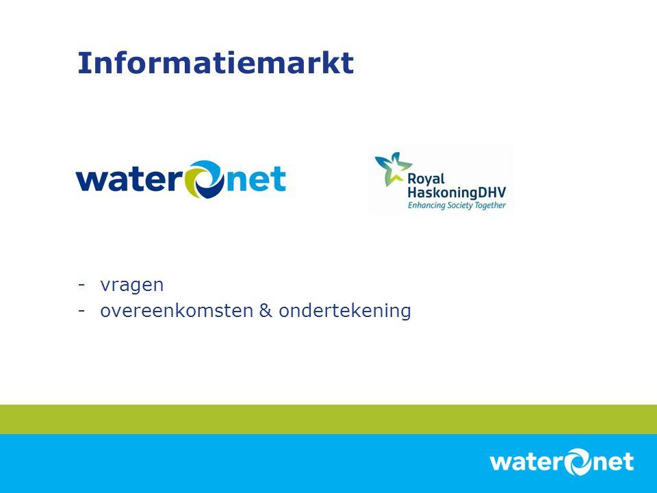 Informatiemarkt -vragen -overeenkomsten & ondertekening