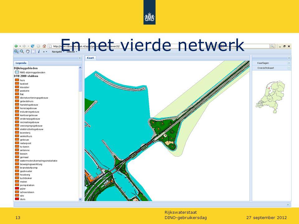 Rijkswaterstaat DINO-gebruikersdag1327 september 2012 En het vierde netwerk