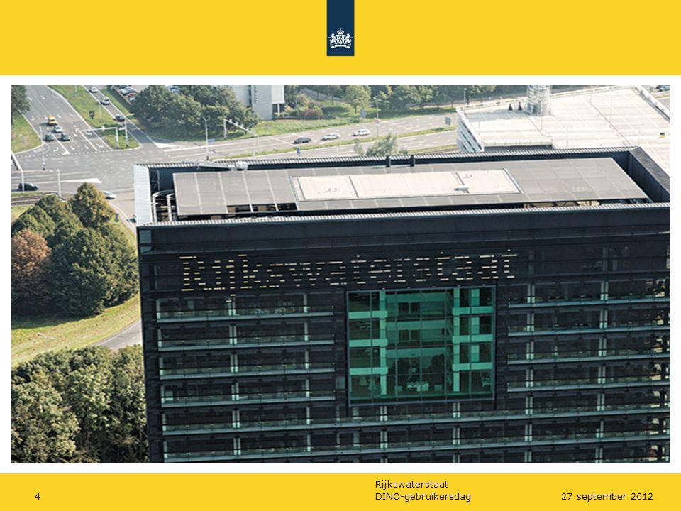 Rijkswaterstaat DINO-gebruikersdag427 september 2012