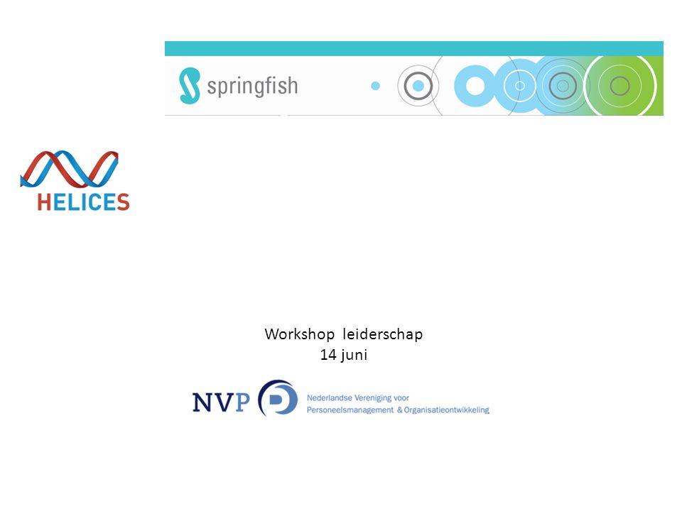 Workshop leiderschap 14 juni