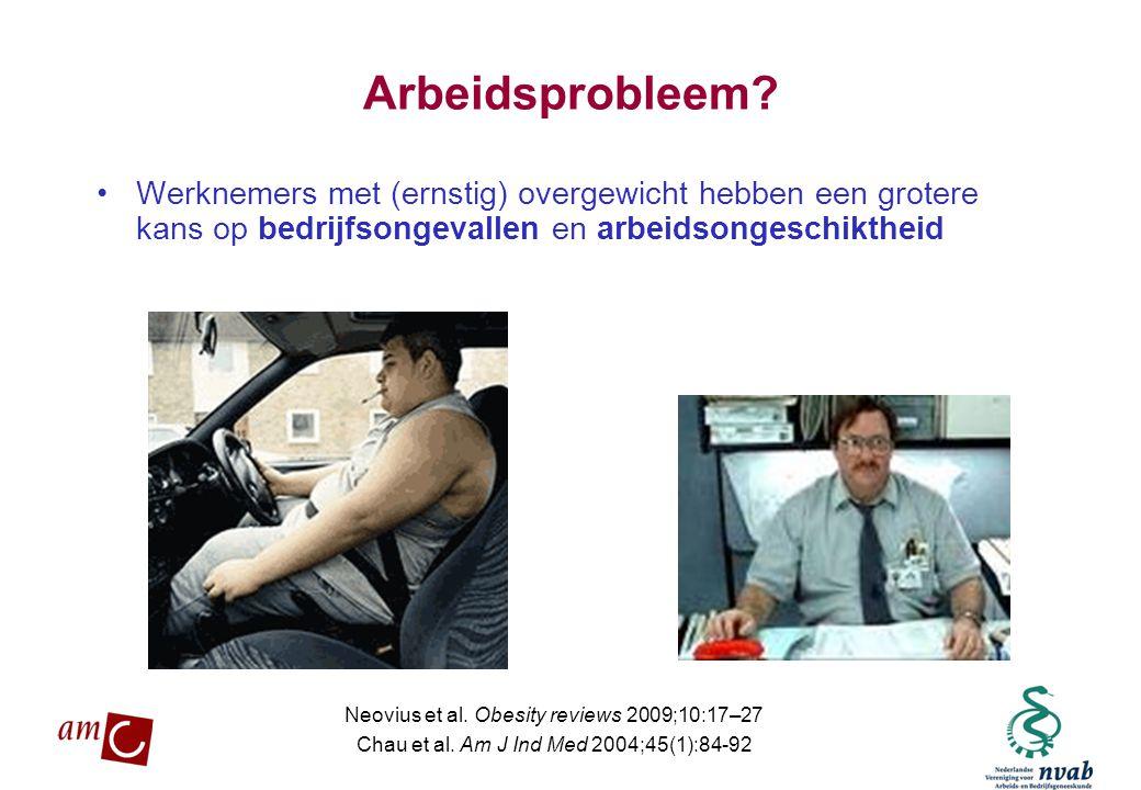 MAETIS ARBO. WERKEN IS GEZOND Arbeidsprobleem? •Werknemers met (ernstig) overgewicht hebben een grotere kans op bedrijfsongevallen en arbeidsongeschik