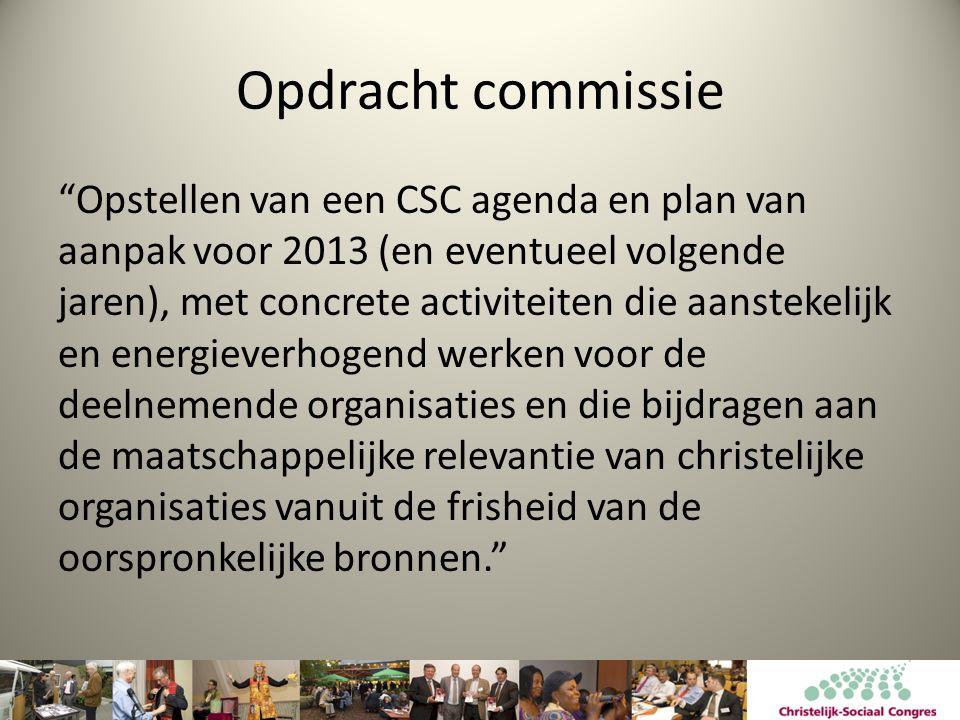 Twee sporen • Agenda met concrete activiteiten • Verbreden van de basis: organisaties engageren → Manifest 'Deel je bedoeling….'