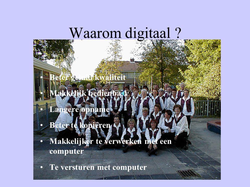 Waarom digitaal .