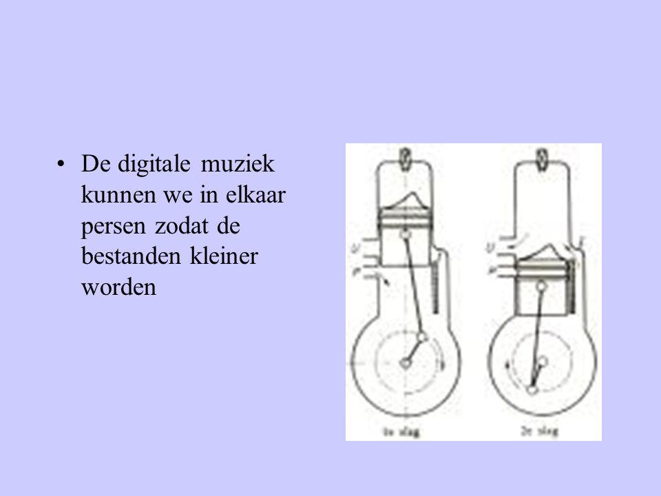 •De digitale muziek kunnen we in elkaar persen zodat de bestanden kleiner worden