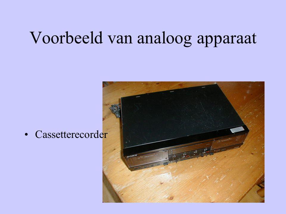 Voorbeeld van analoge muziek •grammofoonplaten