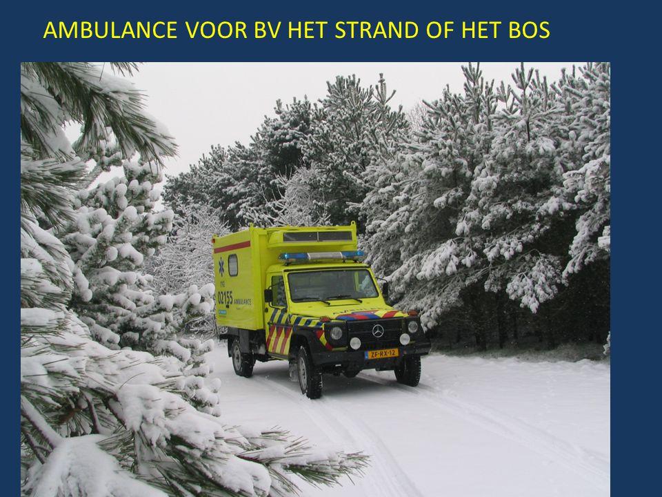 AMBULANCE VOOR BV HET STRAND OF HET BOS