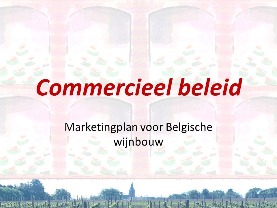 Commercieel beleid Marketingplan voor Belgische wijnbouw