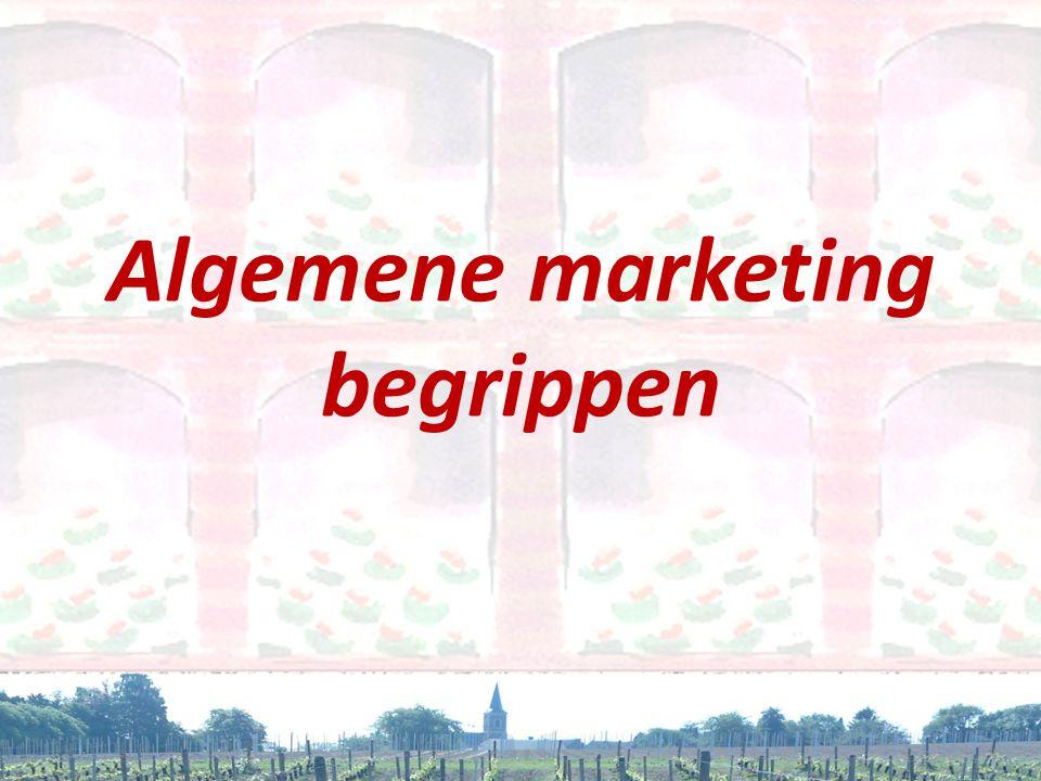 Behoeften • 'De markt' bestaat niet • Verschillende segmenten • Andere behoeften • Bewuste en onbewuste behoefte