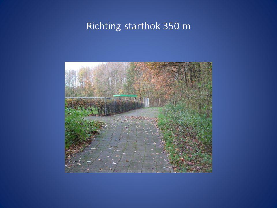 Richting starthok 350 m