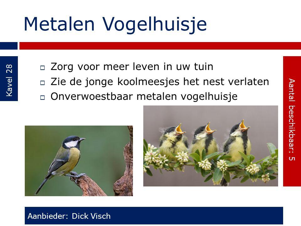 Metalen Vogelhuisje Kavel 28  Zorg voor meer leven in uw tuin  Zie de jonge koolmeesjes het nest verlaten  Onverwoestbaar metalen vogelhuisje Aanbi