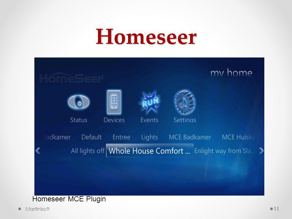 Homeseer 11Martinisoft Homeseer MCE Plugin