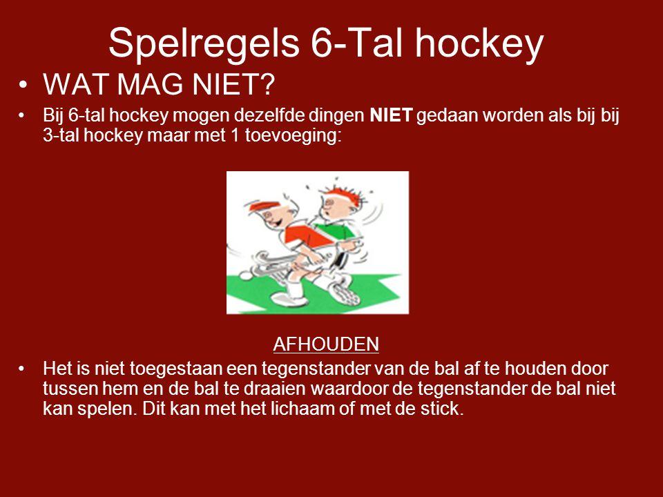 Spelregels 6-Tal hockey •WAT MAG NIET.