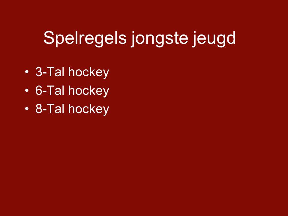 Spelregels jongste jeugd •3-Tal hockey •6-Tal hockey •8-Tal hockey