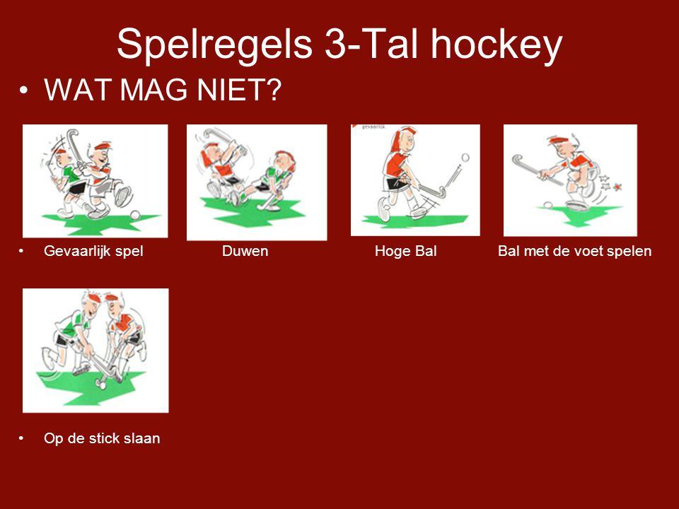 Spelregels 3-Tal hockey •WAT MAG NIET.