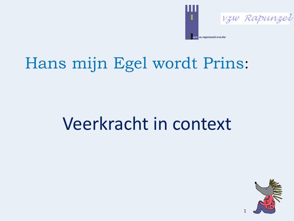 Hans mijn Egel wordt Prins : Veerkracht in context 1