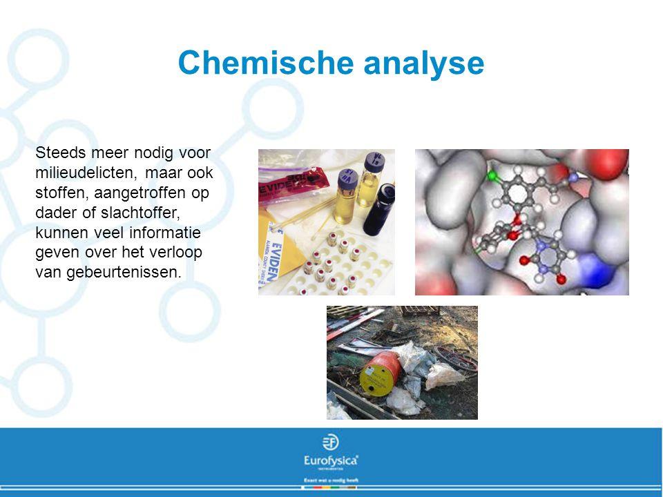 Technieken •Fotospectrometrie •Gaschromatografie •Reagentia