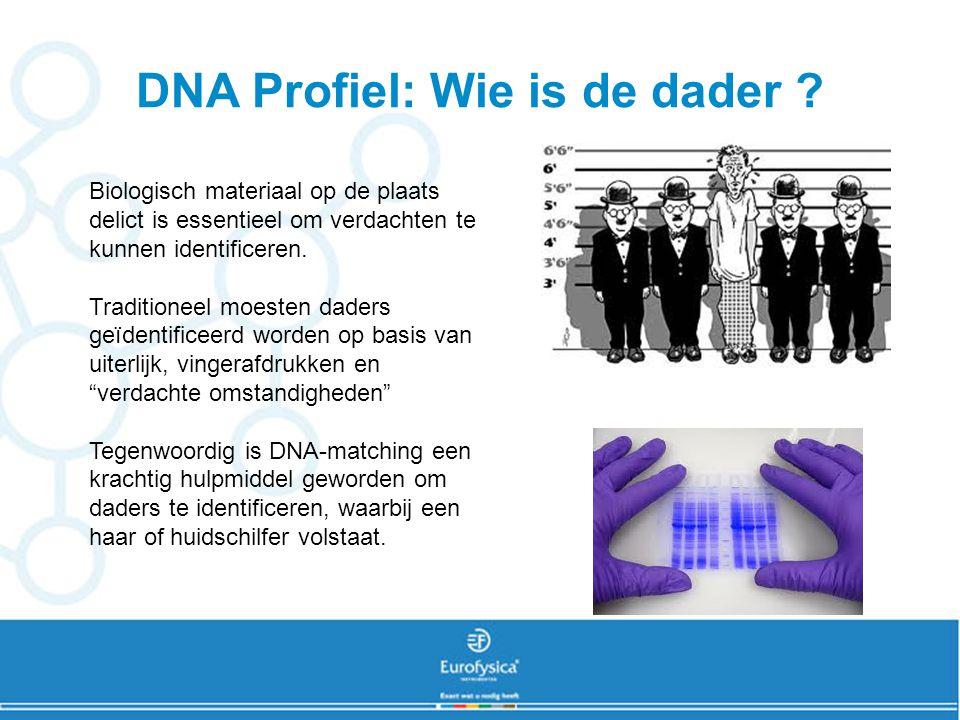 DNA electroforese Op het plaats delict zijn 2 verschillende DNA-sporen gevonden.
