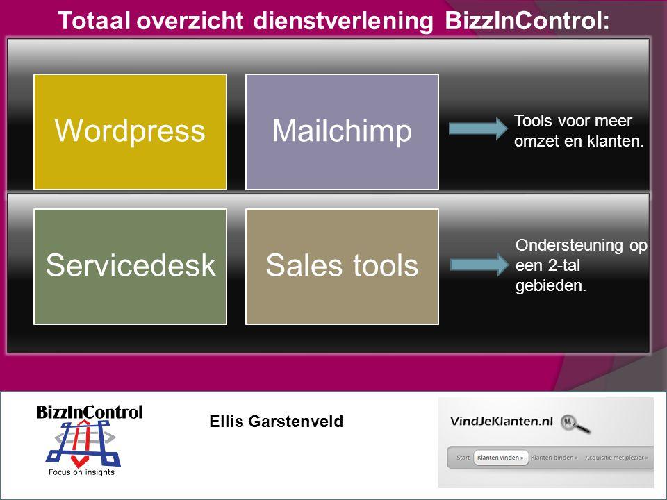 WordpressMailchimp ServicedeskSales tools Tools voor meer omzet en klanten.