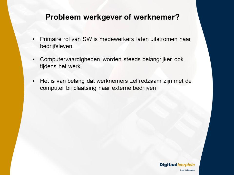 Probleem werkgever of werknemer.