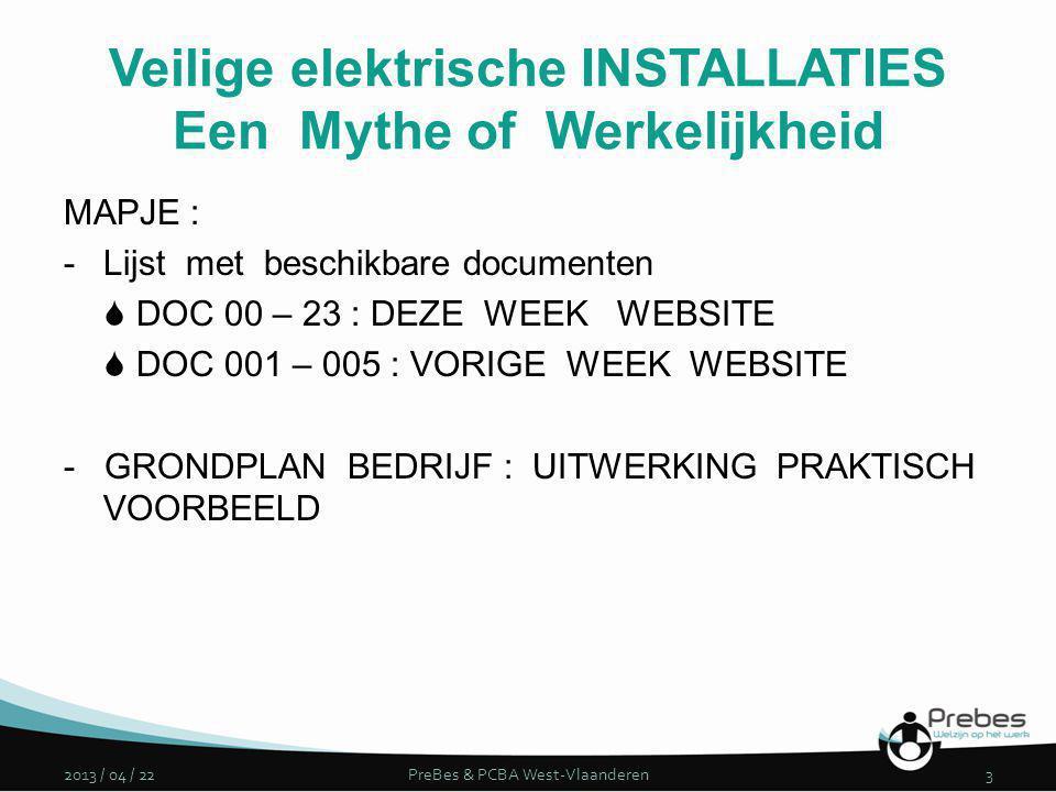 MAPJE : -Lijst met beschikbare documenten  DOC 00 – 23 : DEZE WEEK WEBSITE  DOC 001 – 005 : VORIGE WEEK WEBSITE - GRONDPLAN BEDRIJF : UITWERKING PRA