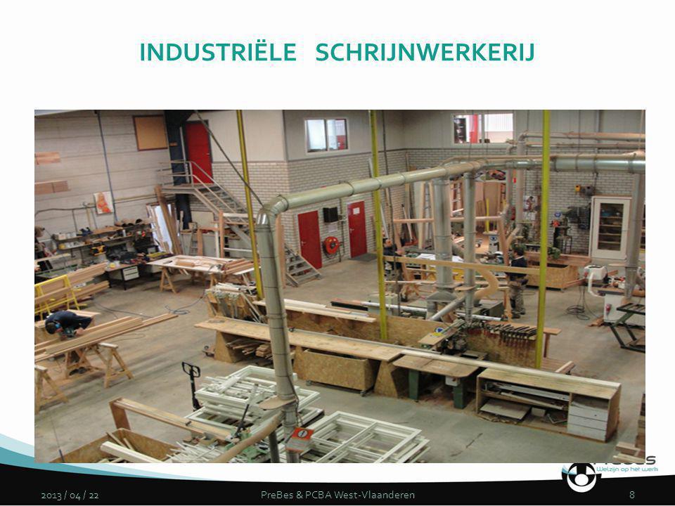 2013 / 04 / 22PreBes & PCBA West-Vlaanderen8 INDUSTRIËLE SCHRIJNWERKERIJ