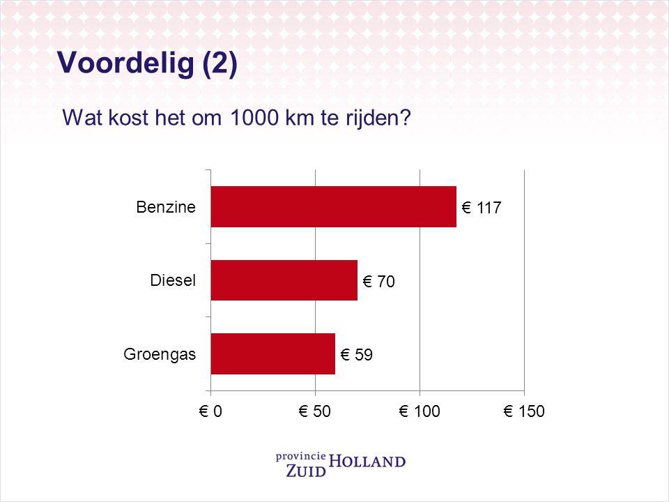 Wat kost het om 1000 km te rijden? Voordelig (2)