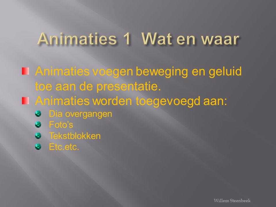 Over animaties gesproken Willem Steenbeek